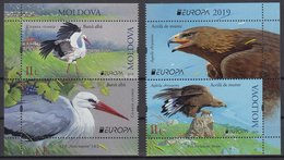 MOLDOVA 2019 EUROPA CEPT.NATIONAL BIRDS SET 2 ST.WITH VIGNIETTE  MNH - 2019