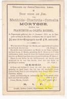 DP Mathilde C. Morysse / Roussel ° Poperinge 1829 † Ieper 1911 - Images Religieuses