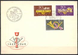 LIQUIDATION TOTALE : 1949 - TRES BELLE ENVELOPPE Avec TRES BEL AFFRANCHISSEMENT - Yvert N° 471/473 - MUSEE DES PTT - Suisse