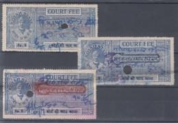 F-EX16019 INDIA UK ENGLAND FEUDATARY STATE REVENUE. KOTAH RAJASTHAN COURT FEE. - India