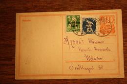 ( 2905 ) Ganzsache Deutsches Reich P  141 I  Mit Zusatzfrankatur  Gelaufen  -   Erhaltung Siehe Bild - Deutschland