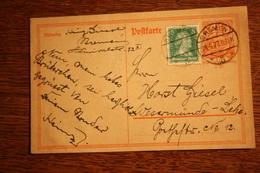 ( 2906 ) Ganzsache Deutsches Reich P  141 I  Mit Zusatzfrankatur Spätverwendung 1927  Gelaufen  -   Erhaltung Siehe Bild - Deutschland