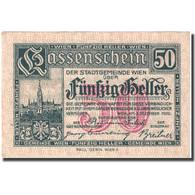Billet, Autriche, Vienne, 50 Heller, Château, 1920 SUP+ Mehl:FS 1183IIbA - Autriche