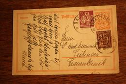 ( 2907 ) Ganzsache Deutsches Reich P  141 I  Mit Zusatzfrankatur   Gelaufen  -   Erhaltung Siehe Bild - Deutschland