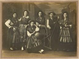 GRUPO De MINHOTAS Fotografia Antiga De J.Neta POVOA De VARZIM. Old Photo (Porto / Minho) PORTUGAL - Photos