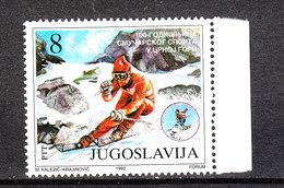 Jugoslavia - 1992. Anniversario Dello Sci In Montenegro. Anniversary Of The Ski In Montenegro. MNH - Sci