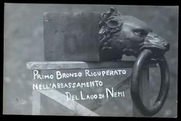NEMI - ANNI 30 - RECUPERO NAVI ROMANE - FOTOCARTOLINA ORIGINALE CON TIMBRO FOT. BERNARDI DI GENZANO DI ROMA (1) - Roma