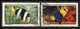NUOVA CALEDONIA - 1984 - PESCI - FISHES - USATI - Posta Aerea