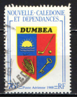 NUOVA CALEDONIA - 1988 - STEMMA DI DUMBEA - USATO - Posta Aerea