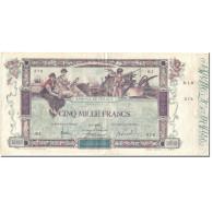 France, 5000 Francs, Flameng, 1918, 1918-01-02, TTB+, Fayette:43.1, KM:76 - 1871-1952 Gedurende De XXste In Omloop