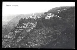 """NEMI - ROMA - 1958 - PANORAMA ( 2 ) - AL RETRO TIMBRO """" ANTICA TRATTORIA DE SANCTIS"""" - Roma"""