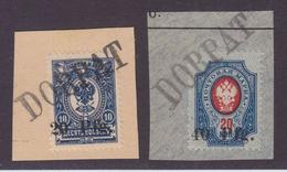 Dt.Bes.1.WK Ob.Ost Dorpat MiNr. 1-2 Gest. Briefstücke - Besetzungen 1914-18