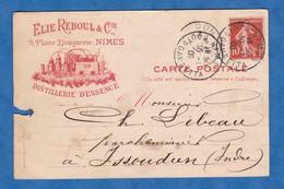 CPA - NIMES - Maison Elie REBOUL & Cie - Distillerie D' Essence - Alambic - 1909 - RARE - Nom Juif ? - Sin Clasificación