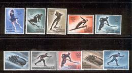 SAN MARINO 1955 Cortina Winter Olympics (1956) Scott Cat. No(s).364-372, C95 MH - Unused Stamps