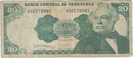 Venezuela 20 Bolívares 8-12-1992 Pk 63 D Ref 10 - Venezuela