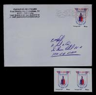 Paulo Sá Machado EX-LIBRIS (personal Stamp 2x + Cover) Coat-of-Arms Brasons Portugal Gc3857 - Holograms