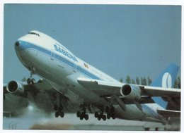 SABENA / BELGIAN WORLD AIRLINES / BOEING 747 / AVIATION / AVION / AIRPLANE - 1946-....: Era Moderna