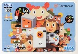 CARTE QUO PREPAID JAPON SEGA  2000 - Games