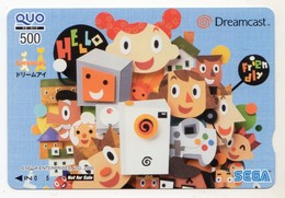 CARTE QUO PREPAID JAPON SEGA  2000 - Jeux