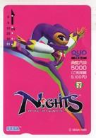 CARTE QUO PREPAID JAPON SEGA NIGHTS 1996 - Games