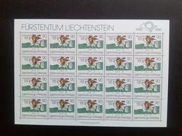 LIECHTENSTEIN MI-NR. 1004 ** KLEINBOGEN 500 JAHRE POST 1990 POSTREITER Von PAUL FLORA - Blocks & Sheetlets & Panes