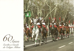 PORTUGAL - Entier Postaux - 60 Years Of Escort To Horse Of The Military College - Militaria