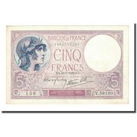 France, 5 Francs, Violet, 1939-07-13, SUP, Fayette:4.1, KM:83 - 1871-1952 Antiguos Francos Circulantes En El XX Siglo