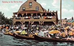 Canoeing On The Charles River - Etats-Unis