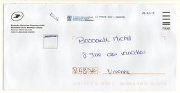 2019 -- Lettre  De Libourne (Sce De Recherche Du Courrier) --cachet La Poste SCC LIBOURNE--ERU4 - Marcophilie (Lettres)