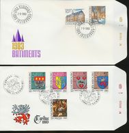 Luxembourg St Lawrence Church Diekirch Town Hall Dudelange Arms Nativity Day Of Issue 1983 A04s - FDC