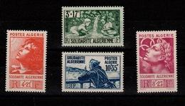 Algerie - YV 249 à 252 N** Complète Solidarite Cote 14 Euros - Algeria (1924-1962)
