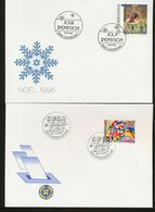 Luxembourg Christmas Elections European Parliament Day Of Issue 1994 1996 A04s - FDC