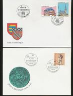 Luxembourg Tourism Erpeldange Schwengen John The Blind Day Of Issue 1996 1997 A04s - FDC