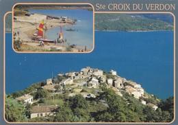 04 Sainte Croix Du Verdon Le Village Et La Plage (2 Scans) - France