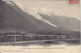 74 CHAMONIX MONT BLANC TRAIN PLM SNCF A VOIX METRIQUE VERS LES MOUSSOUX JULLIEN FRERES JJ 2984 - Chamonix-Mont-Blanc