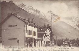 74 LES TINES GARE PLM TRAIN A VOIX METRIQUE LE FAYET  HOTEL LA FORET VALLEE DE CHAMONIX MONT BLANC EDITEUR CATALA 118 - Chamonix-Mont-Blanc