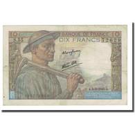 France, 10 Francs, Mineur, 1943-09-09, TTB, Fayette:8.9, KM:99d - 1871-1952 Anciens Francs Circulés Au XXème
