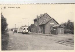 Maransart ,(Lasne,Plancenoit ,Ohain,Genappe ,la Hulpe ) La  Gare , Tram électrique Ligne W ( Vicinal ) - Lasne