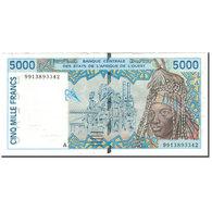 Billet, West African States, 5000 Francs, KM:113Ai, TTB - États D'Afrique De L'Ouest