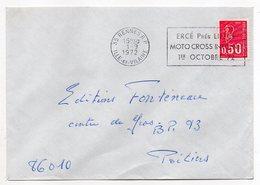 """1972--lettre De RENNES R.P-35 Pour POITIERS-86 --flamme Temporaire""""MOTOCROSS INTERNATIONAL-ERCE Près Liffré"""" - Marcophilie (Lettres)"""