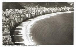 Brazil Brasil Rio De Janeiro Vue Aérienne Plage Praia Copacabana Voyagé 1982 - Rio De Janeiro