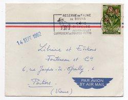 Côte D'Ivoire --1962--lettre De Abidjan Pour Poitiers-86 (France)-timbrefleur,cachet Réserve Faune De Bouna - Côte D'Ivoire (1960-...)