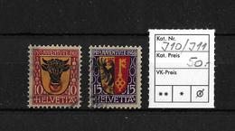 PRO JUVENTUTE → 1918 Kantonswappen  ►SBK-J10 / J11◄ - Pro Juventute
