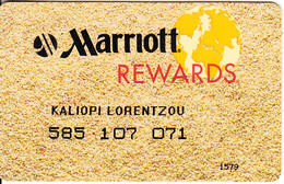 USA - Marriott Rewards, Member Card, Used - Cartes D'hotel