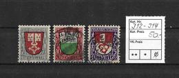 PRO JUVENTUTE → 1919 Kantonswappen  ►SBK-J12 Bis J14◄ - Pro Juventute