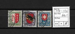 PRO JUVENTUTE → 1921  Kantons- Und Schweizer Wappen  ►SBK-J18 Bis J20◄ - Pro Juventute