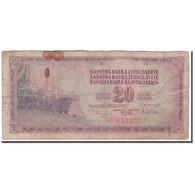 Billet, Yougoslavie, 20 Dinara, 1978-08-12, KM:88a, B - Yougoslavie