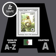 Sierra Leone 2019 Mih. 10476 (Bl.1617) Fauna. WWF Stamps On Stamps. Algeria. Monckeys. Barbary Macaque MNH ** - Sierra Leone (1961-...)