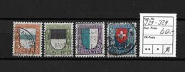 PRO JUVENTUTE → 1922  Kantons- Und Schweizer Wappen  ►SBK-J21 Bis J24◄ - Pro Juventute