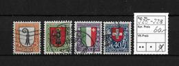 PRO JUVENTUTE → 1923  Kantons- Und Schweizer Wappen  ►SBK-J25 Bis J28◄ - Pro Juventute